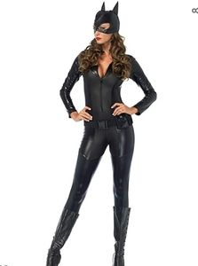 Cat woman suit Halloween costume with mask
